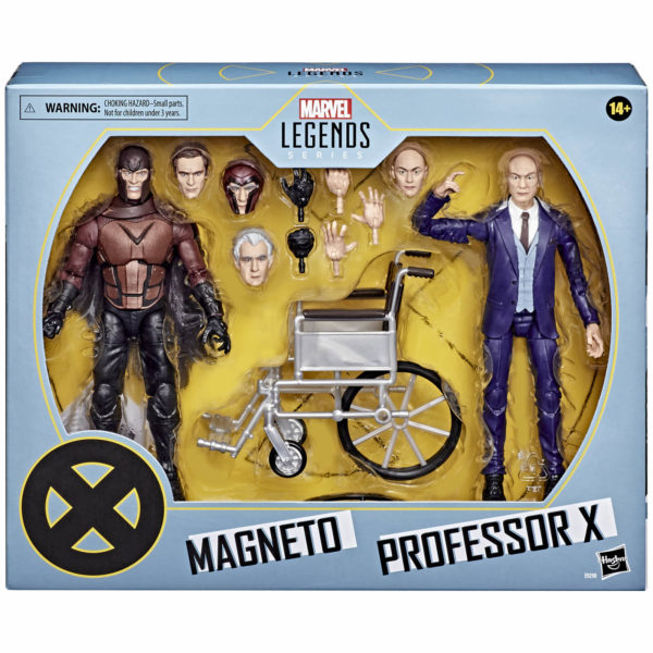 MAGNETO & PROFESSOR X PACK 2 FIGURINES X-MEN MARVEL LEGENDS HASBRO E9290 15 CM (0) 5010993722082 kingdom-figurine.fr