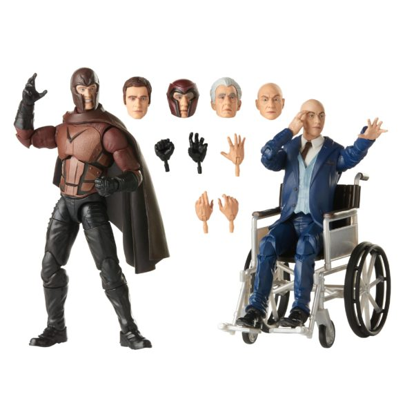 MAGNETO & PROFESSOR X PACK 2 FIGURINES X-MEN MARVEL LEGENDS HASBRO E9290 15 CM (1) 5010993722082 kingdom-figurine.fr