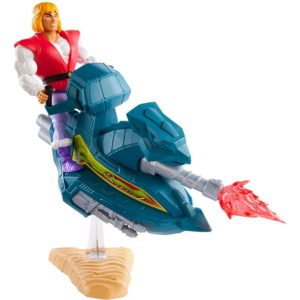 PRINCE ADAM WITH SKY SLED MASTERS OF THE UNIVERSE ORIGINS MATTEL 14 CM 887961893243 kingdom-figurine.fr