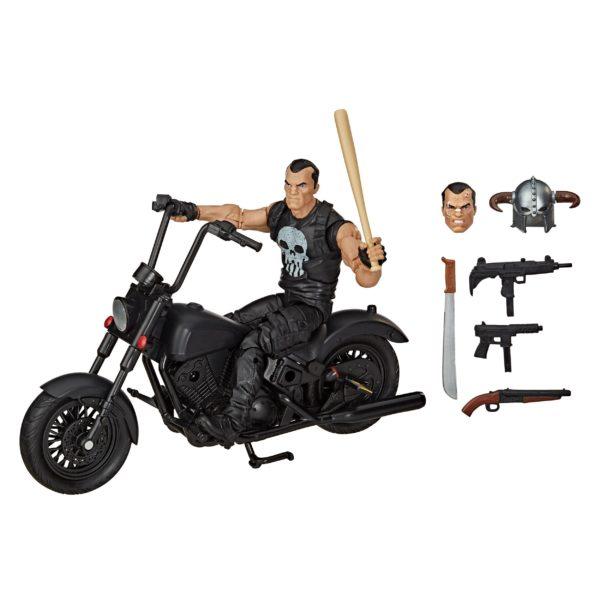 PUNISHER WITH MOTORCYCLE FIGURINE MARVEL LEGENDS HASBRO 15 CM (2) 5010993733453 kingdom-figurine.fr
