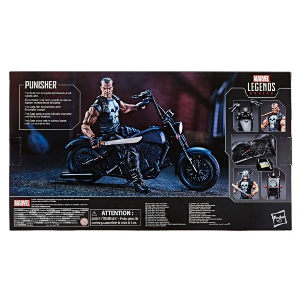 PUNISHER WITH MOTORCYCLE FIGURINE MARVEL LEGENDS HASBRO 15 CM (3) 5010993733453 kingdom-figurine.fr