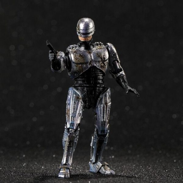 ROBOCOP BATTLE DAMAGE FIGURINE 1-18 ROBOCOP HIYA TOYS 11 CM (4) 6957534200762 kingdom-figurine.fr