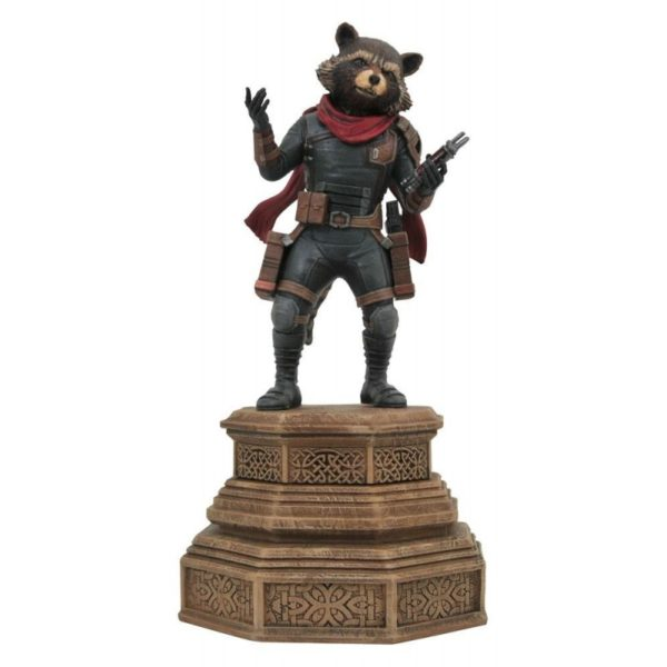 ROCKET RACCOON STATUETTE AVENGERS ENDGAME MARVEL MOVIE GALLERY DIAMOND SELECT 18 CM 699788839393 kingdom-figurine.fr