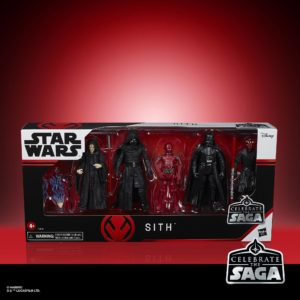 SITH PACK 5 FIGURINES STAR WARS CELEBRATE THE SAGA HASBRO 10 CM 5010993782475 kingdom-figurine.fr