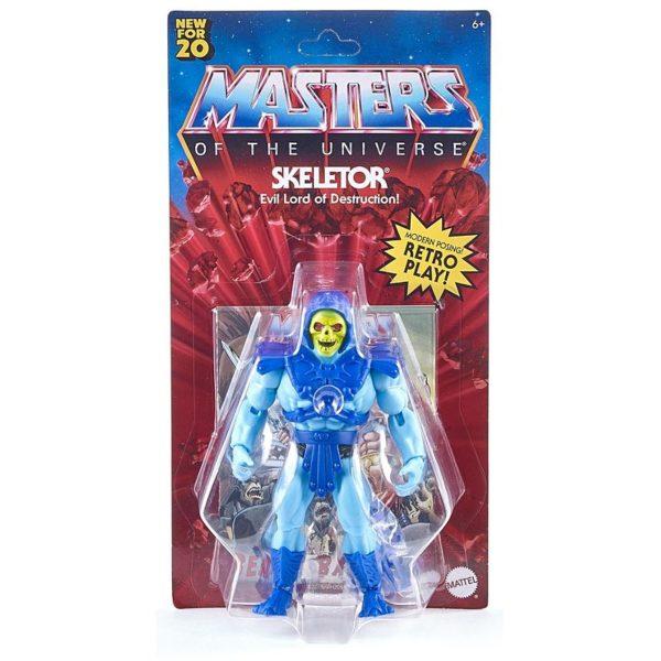 SKELETOR FIGURINE MASTERS OF THE UNIVERSE ORIGINS WAVE 1 MATTEL 14 CM 887961875409 kingdom-figurine.fr