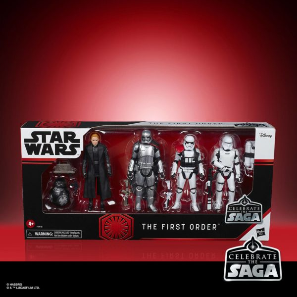 THE FIRST ORDER PACK 5 FIGURINES STAR WARS CELEBRATE THE SAGA HASBRO 10 CM 5010993782598 kingdom-figurine.fr