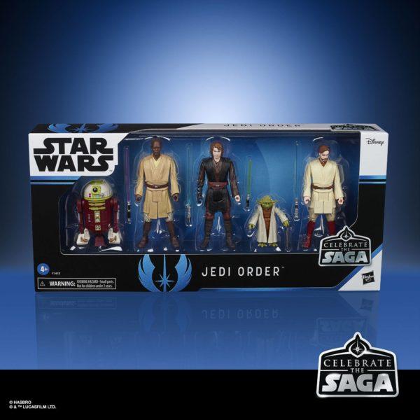 THE JEDI ORDER PACK 5 FIGURINES STAR WARS CELEBRATE THE SAGA HASBRO 10 CM 5010993782512 kingdom-figurine.fr