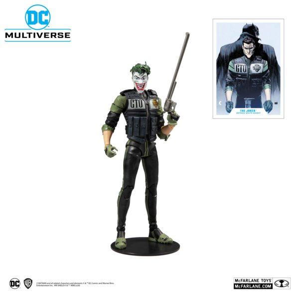 WHITE KNIGHT JOKER FIGURINE DC MULTIVERSE McFARLANE TOYS 18 CM (1) 787926154078 kingdom-figurine.fr