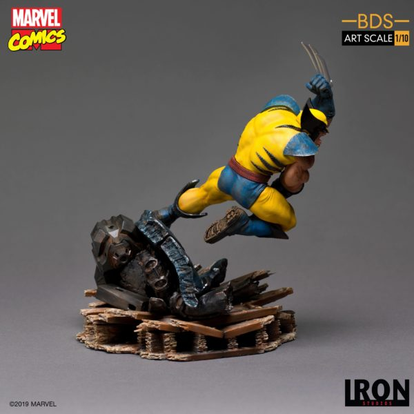 WOLVERINE STATUETTE 1-10 MARVEL COMICS BDS ART SCALE IRON STUDIOS 22 CM (2) 606529900175 kingdom-figurine.fr