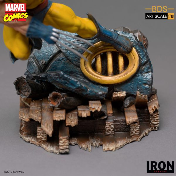 WOLVERINE STATUETTE 1-10 MARVEL COMICS BDS ART SCALE IRON STUDIOS 22 CM (7) 606529900175 kingdom-figurine.fr
