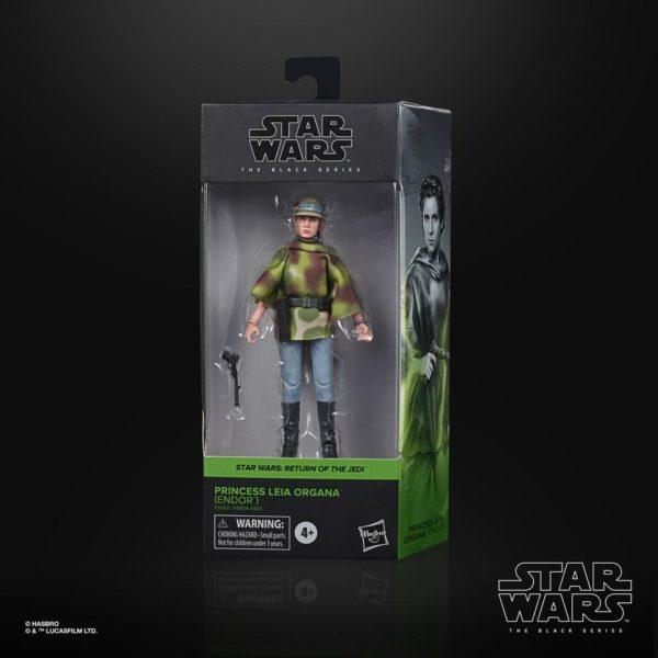 PRINCESS LEIA ORGANA ENDOR FIGURINE STAR WARS EPISODE VI BLACK SERIES HASBRO E9363 15 CM 5010993755622 kingdom-figurine.fr