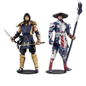 SCORPION & RAIDEN PACK 2 FIGURINES MORTAL KOMBAT McFARLANE TOYS 18 CM 787926110319 kingdom-figurine.fr