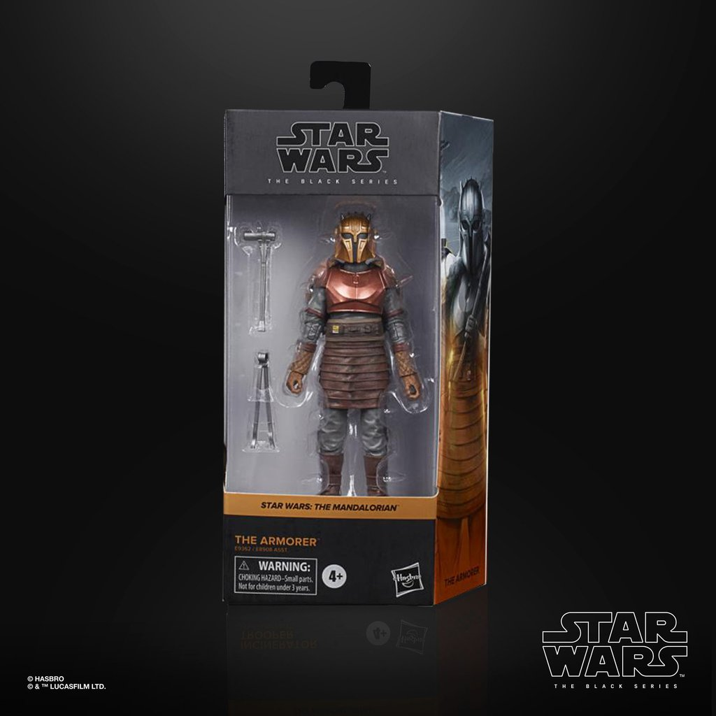 THE ARMORER FIGURINE STAR WARS THE MANDALORIAN BLACK SERIES HASBRO E9362 15 CM 5010993754717 kingdom-figurine.fr