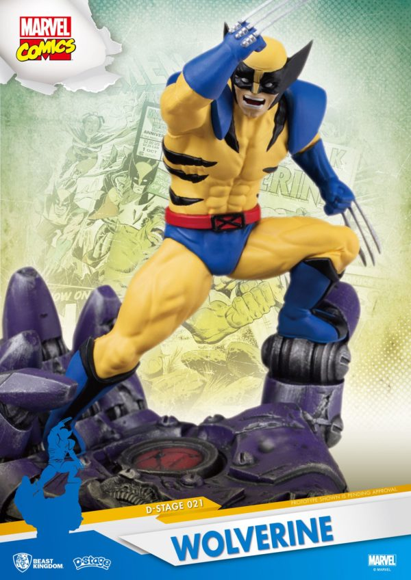 WOLVERINE DIORAMA MARVEL COMICS D-STAGE BEAST KINGDOM 16 CM 710227010534 kingdom-figurine.fr (3)