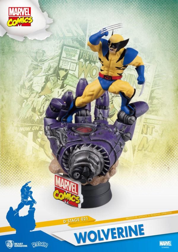 WOLVERINE DIORAMA MARVEL COMICS D-STAGE BEAST KINGDOM 16 CM 710227010534 kingdom-figurine.fr (6)