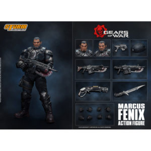 MARCUS FENIX FIGURINE 12 GEARS OF WAR 5 STORM COLLECTIBLES 16 CM 4897072870954 kingdom-figurine.fr