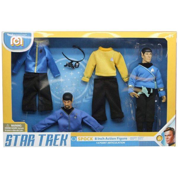 SPOCK FIGURINE GIFT SET STAR TREK TOS MEGO 20 CM 850002478839 kingdom-figurine.fr