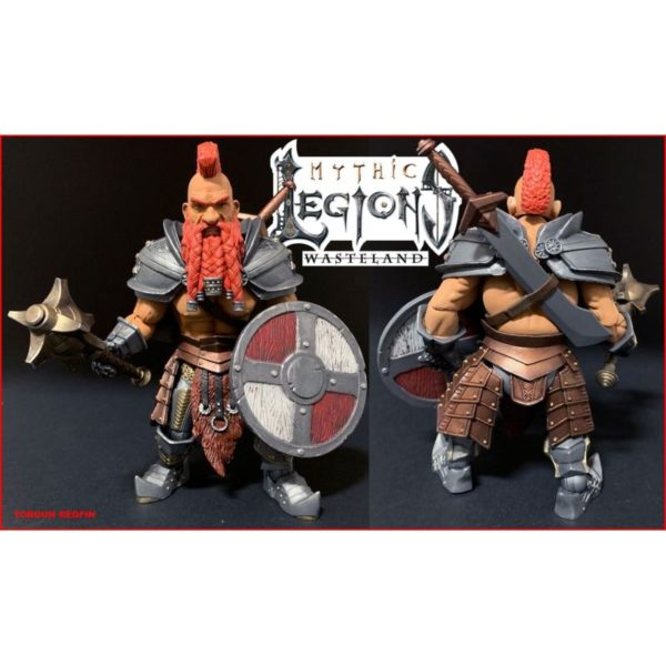 TORGUN REDFIN FIGURINE MYTHIC LEGIONS WASTELAND FOUR HORSEMEN TOY DESIGN 15 CM kingdom-figurine.fr
