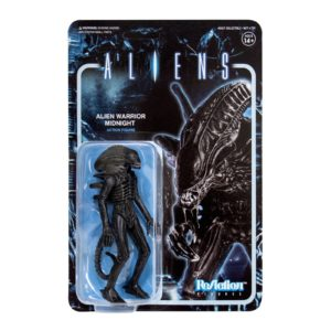 ALIEN WARRIOR MIDNIGHT BLACK FIGURINE ALIENS WAVE 1 RE-ACTION SUPER7 10 CM 840049800106 kingdom-figurine.fr