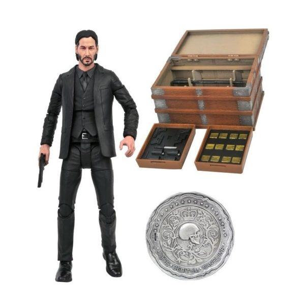 JOHN WICK FIGURINE DELUXE BOX SET DIAMOND SELECT 18 CM 699788841921 kingdom-figurine.fr