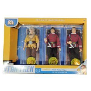 SPOCK, KIRK & KHAN PACK 3 FIGURINES STAR TREK MEGO 20 CM 850003511139 kingdom-figurine.fr
