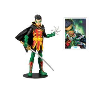 DAMIAN WAYNE AS ROBIN FIGURINE DC MULTIVERSE McFARLANE TOYS 18 CM 787926151374 kingdom-figurine.fr