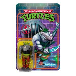 ROCKSTEADY FIGURINE LES TORTUES NINJA TMNT RE-ACTION SUPER7 10 CM 840049802285 kingdom-figurine.fr