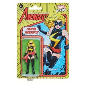 CAROL DANVERS FIGURINE MARVEL LEGENDS RETRO COLLECTION SERIES HASBRO 10 CM 5010993842568 kingdom-figurine.fr