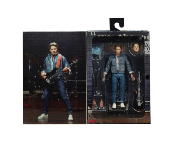 MARTY McFLY AUDITIONS FIGURINE ULTIMATE RETOUR VERS LE FUTUR NECA 18 CM 634482536155 kingdom-figurine.fr (2)