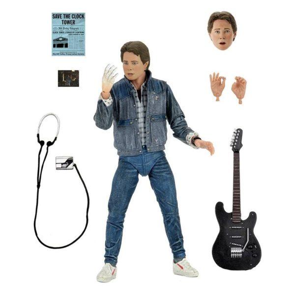 MARTY McFLY AUDITIONS FIGURINE ULTIMATE RETOUR VERS LE FUTUR NECA 18 CM 634482536155 kingdom-figurine.fr
