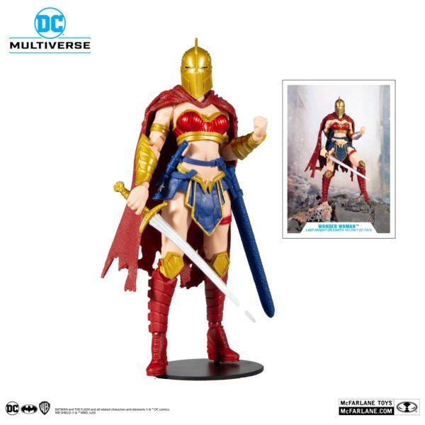 WONDER WOMAN WITH HELMET FIGURINE LAST KNIGHT ON EARTH McFARLANE TOYS 18 CM 787926151756 kingdom-figurine.fr