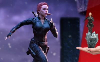 Cinq figurines de Black Widow